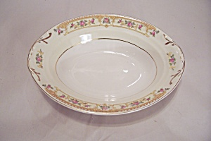 Crown Croyden Pattern Fine China Oval Serving Bowl