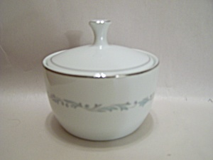 Noritake Brooklane Pattern Fine China Sugar Bowl W/lid