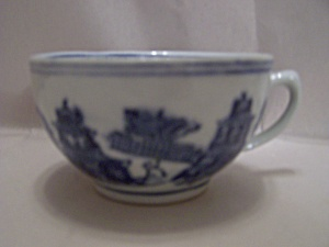 Japanese Flow Blue Teacup