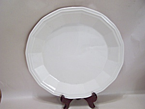 Home Laughlin White China 16-sided Chop Plate