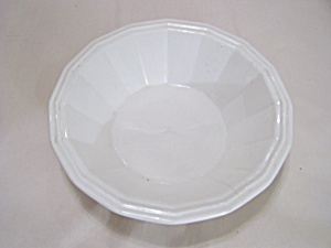 Homer Laughlin White China 16-sided Vegetable Bowl