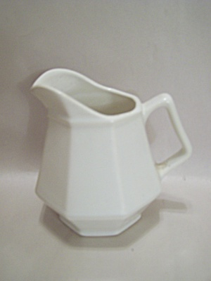 Homer Laughlin White China 8-sided Creamer