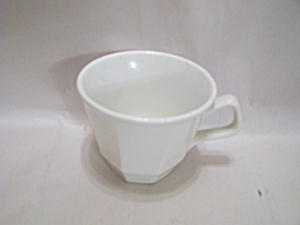 Homer Laughlin White China 8-sided Cup