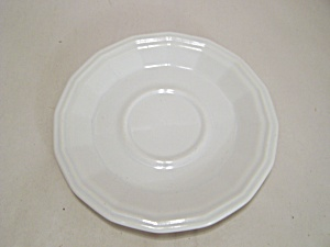 Homer Laughlin White China 16-sided Saucer