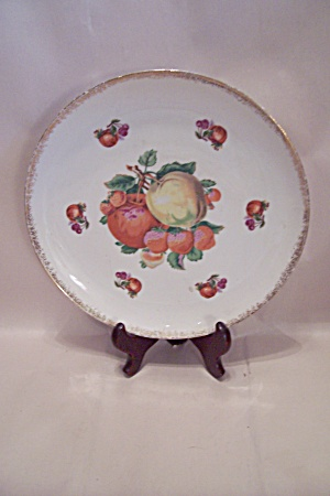 Fruit Motif & Gilt Trimmed Collector Plate