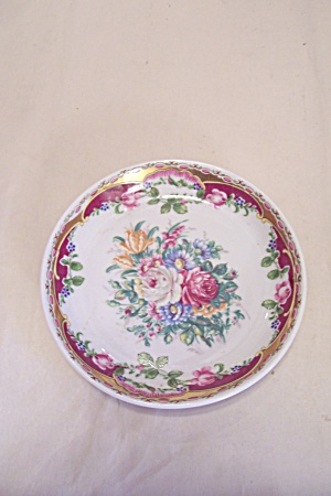Maba Porcellane Rose Motif Candy Dish