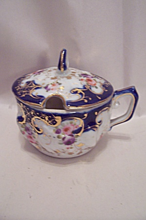 Fine Decorated Porcelain Sugar & Condiment Lidded Bowl (Image1)