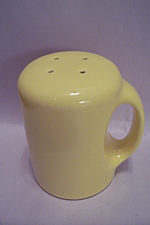 Large Yellow Pottery Salt Shaker