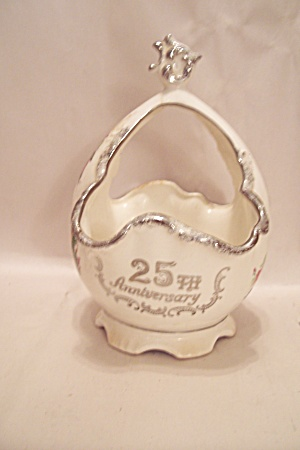 25th Wedding Anniversary Porcelain Cache Basket (Image1)