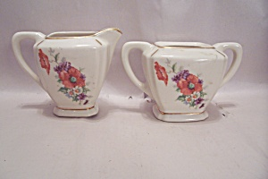 Homer Laughlin(?) Creamer & Sugar Bowl Set