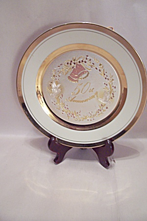 Chokin 50th Wedding Anniversary Collector Plate