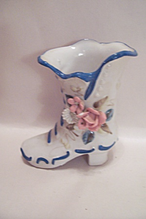 Porcelain Lady's High Top Slipper