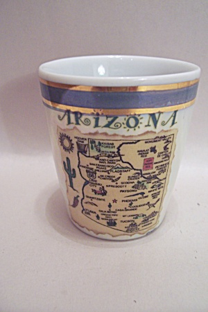 Arizona Souvenir Porcelain Toothpick Holder (Image1)