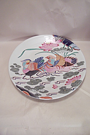 Decorative Duck & Lotus Hand Painted Tray