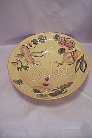 Los Angeles Potteries Pottery Salad Bowl
