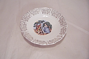 Sabin Colonial Couple Pattern China Soup Bowl