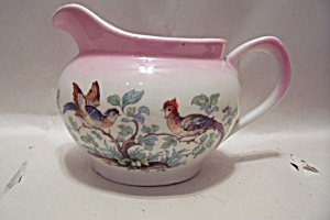 German Pheasant Decorated China Cream Pitcher