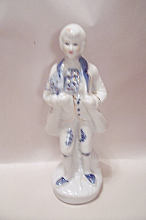 Hand Painted Porcelain Colonial Male Figurine (Image1)