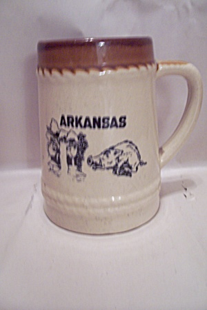 Arkansas Eazorbacks Souvenir Beer Stein
