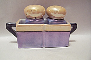 Occupied Japan Lustre Finish Salt & Pepper Shaker Set