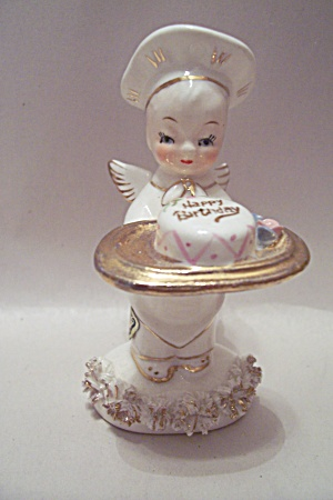 Happy Birthday Porcelain Angel Figurine
