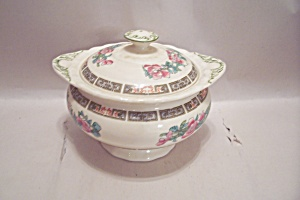 Myott Indian Tree Pattern Fine China Sugar Bowl W/lid