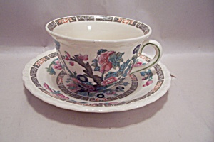 Myott Indian Tree Pattern Fine China Cup & Saucer Set