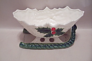 Lefton Fine China Christmas Sleigh Bowl