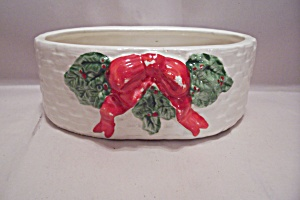 White Handpainted Porcelain Christmas Bowl