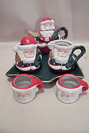 Miniature 6-piece Christmas Porcelain Tea Set
