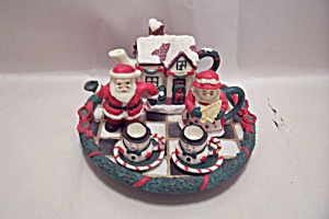 Miniature 6-pieceporcelain Decorative Christmas Tea Set