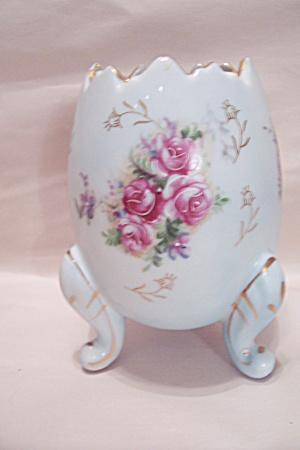 Inarco Porcelain 3-leg Flower Decorated Vase