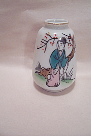Occupied Japan Geisha Decorated Miniature Vase