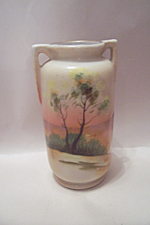 Occupied Japan Handpainted Porcelain Vase