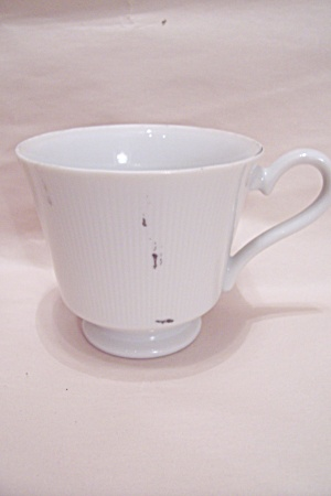 Ascot Pattern Fine China White Footed Teacup