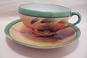 Occupied Japan Hand Painted Teacup & Saucer Set