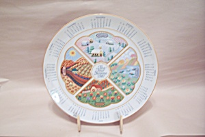 1987 Avon The Four Seasons Calendar Collector Plate