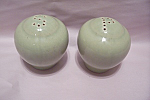 Pair Of Lime Green Salt And Pepper Shakers