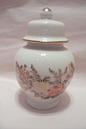 Otagiri Butterfly & Floral Decorated Ginger Jar