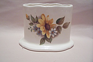 Porcelain Flower Decorated Oval Toothpick Holder (Image1)