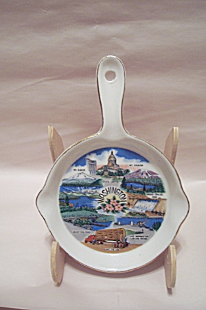 Washington State Souvenir Porcelain Spoon Holder