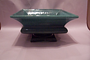 Mccoy Large Green Pottery Pedestal Planter