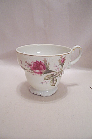 Porcelain Rose Decorated Demitasse Cup