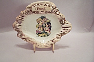 Hawaii Porcelain Souvenir Ash Tray (Image1)