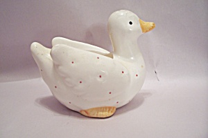 Porcelain Duck Cache Pot/Planter (Image1)