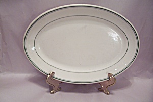 Wallace White & Green Trimmed China Platter