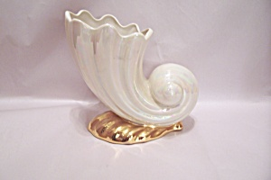 Porcelain Lustre Finish Horn Of Plenty Vase