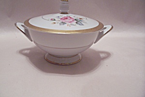 Style House Pattern China Sugar Bowl With Lid