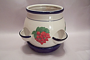 Pottery Strawberry Planter