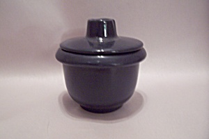 Frankoma Black Pottery Small Covered Bowl